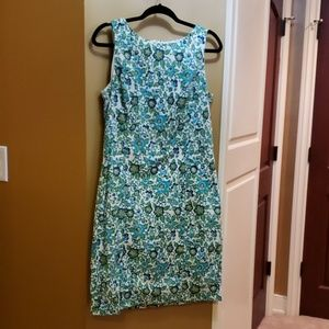 Brook Brothers Green and blue floral dress